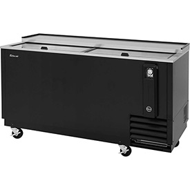 "Turbo Air TBC-65SB Bottle Cooler, 18.5 Cu. Ft., Black, 64-3/8""W x 26-1/2""D x... by"