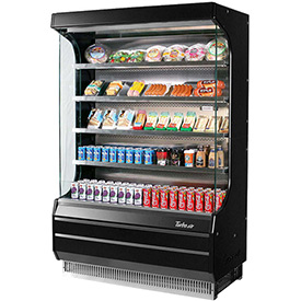 Turbo Air Open Display Merchandiser, Black - TOM-50B