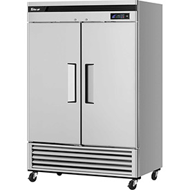 "Turbo Air TSF-49SD Super Deluxe Series - Solid Door Freezer 54-2/5""W - 2 Door"