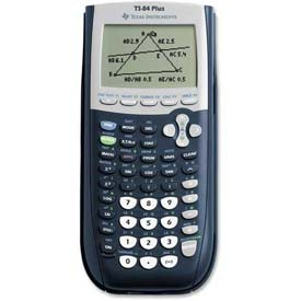 "Buy Texas Instruments Graphic Calculator, TI84PLUS, USB Cable, 3-1/3"" X 7-1/2"" X 9/10"", Black"