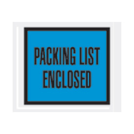 "Blue Packing List Enclosed - Full Face 4-1/2"" x 5-1/2"" - 1000 Pack"