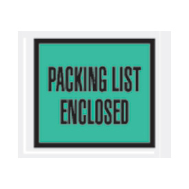 "Green Packing List Enclosed - Full Face 4-1/2"" x 5-1/2"" - 1000 Pack"