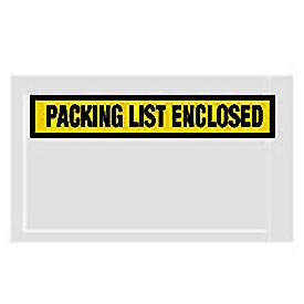 "Yellow Packing List Enclosed - Panel Face 5-1/2"" x 10"" - 1000 Pack"