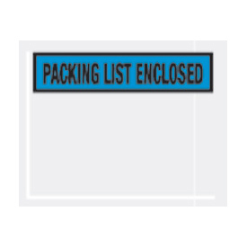"Blue Packing List Enclosed - Panel Face 4-1/2"" x 5-1/2"" - 1000 Pack"
