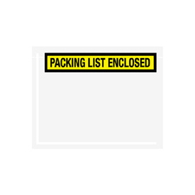 "Yellow Packing List Enclosed - Panel Face 7"" x 5-1/2"" - 1000 Pack"