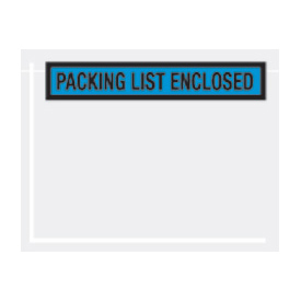"Blue Packing List Enclosed - Panel Face 7"" x 5-1/2"" - 1000 Pack"