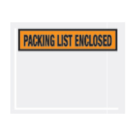 "Orange Packing List Enclosed - Panel Face 4-1/2"" x 5-1/2"" - 1000 Pack"