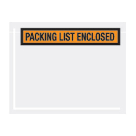 "Orange Packing List Enclosed - Panel Face 7"" x 5-1/2"" - 1000 Pack"