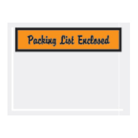 "Orange Packing List Enclosed - Panel Face 4-1/2"" x 6"" - 1000 Pack"