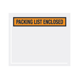 "Orange Packing List Enclosed - Panel Face 7"" x 6"" - 1000 Pack"