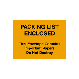 "Packing List Enclosed - Full Face 4-1/2"" x 6"" - 1000 Pack"