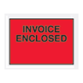 "Red Invoice Enclosed - Full Face 4-1/2"" x 6"" - 1000 Pack"