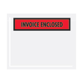 "Red Invoice Enclosed - Panel Face 4-1/2"" x 6"" - 1000 Pack"