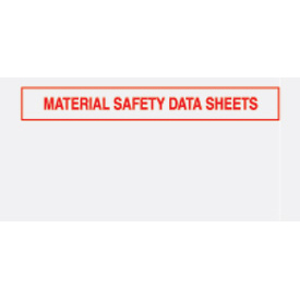 "Red Material Safety Data Sheet - Panel Face 5-1/2"" x 10"" - 1000 Pack"