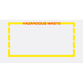 "Hazardous Waste - Yellow Border 5-1/2"" x 10"" - 1000 Pack"