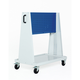 "39x18x47""Trolley 1 Perfo Panel each side by"