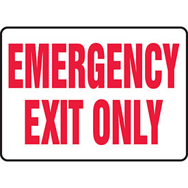 """Accuform MEXT584VS Exit Safety Sign, 10""""W x 7""""H, Adhesive Vinyl by"""