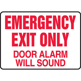 """Accuform MEXT591VS Exit Safety Sign, 10""""W x 7""""H, 4-mil Adhesive Vinyl by"""