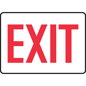 """Accuform MEXT906VS Exit Safety Sign, 14""""W x 10""""H, Adhesive Vinyl by"""