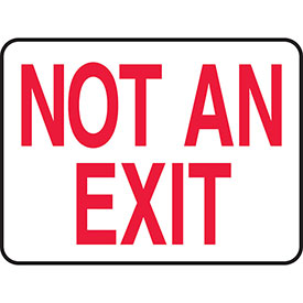 """Accuform MEXT911VA Exit Safety Sign, 14""""W x 10""""H, Aluminum by"""