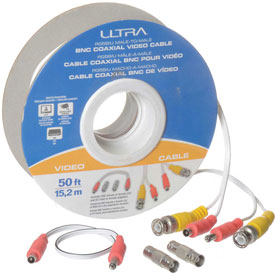 Ultra 50FT RG58/U Male-To-Male BNC Coaxial Video Cable - 50FT, 15.2m