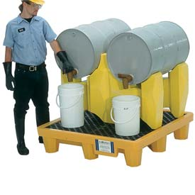 UltraTech Ultra-Drum Rack 2 Drum Containment System® 2384 with Drain