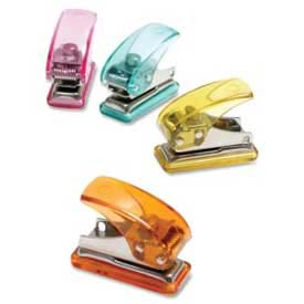 Baumgartens Mini Single Hole Punch, Assorted by