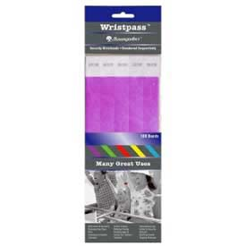 "Baumgartens Wristpass Security Wrist Bands, 10"" x 3/4"", Purple, 100 Bands/Pack by"