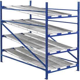 """UNEX RR99S2W4X8-L Additional Level For Gravity Flow Roller Rack with Wheel Bed 48""""W x 96""""D"""