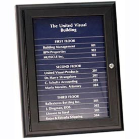 "United Visual Products 18""W x 24""H Magnetic Strip Letter Board Board with Black Strips"