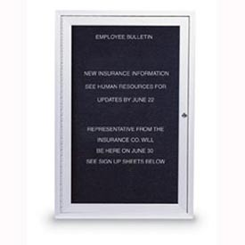 "United Visual Products 24""W x 36""H 1-Door Outdoor Enclosed Illuminated Letter Board with Satin Frame"