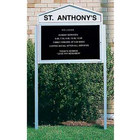 "United Visual Products 2"" x 2"" x 96"" Posts for Single Sided Letter Boards"