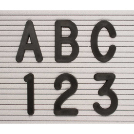 "United Visual Products 2"" Black Helvetica Letter Sprue Set of 145 Characters"