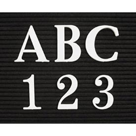"""United Visual Products 1"""" White Roman Letter Box Set of 435 Characters"""