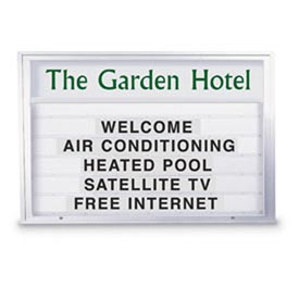 """United Visual Products 72""""W x 48""""H Single Sided Outdoor Readerboard with Satin Aluminum Frame"""