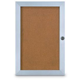 """United Visual Products 18""""W x 24""""H Elevator Board with Traditional Satin Aluminum Frame"""