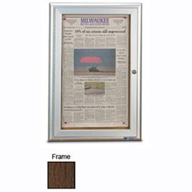 "United Visual Products 19""W x 28""H Restroom Board with Walnut Stained Oak Frame"