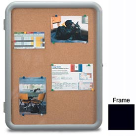 "United Visual Products 18""W x 24""H Image Enclosed Corkboard with Black Frame"