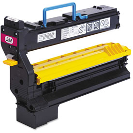 Click here to buy Konica Minolta 1710602007 High-Yield Toner, 12000 Page-Yield, Magenta, OEM.