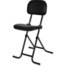 Alera Plus™ IL Folding Stool - Vinyl - Black