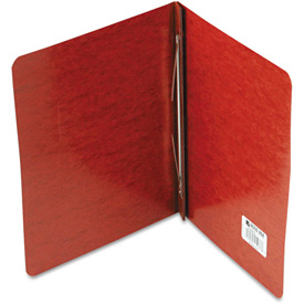 """ACCO Pressboard Report Cover, Prong Clip, Letter, 3"""" Capacity, Red by"""