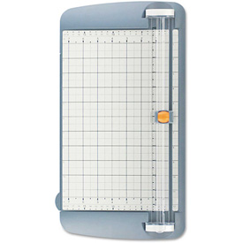 "Westcott TrimAir Titanium Rotary Paper Trimmer, Wide Base, 12"", Grey by"