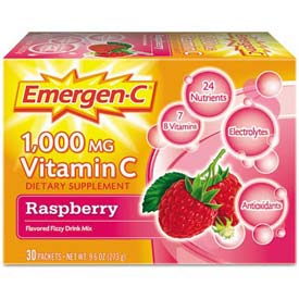 Emergen-C Immune Defense Drink Mix Powder, Raspberry, 0.3 Oz, 50/Pack