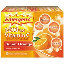Emergen-C Immune Defense Drink Mix Powder, Super Orange, 0.3 Oz, 50/Pack