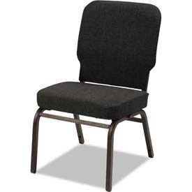 Alera® Oversize Stack Chair - Fabric - Black - 2/Carton