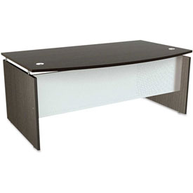 "Alera Desk Shell with Bow Front - 72""W x 42""D x 29-1/2""H - Espresso - SedinaAG Series"
