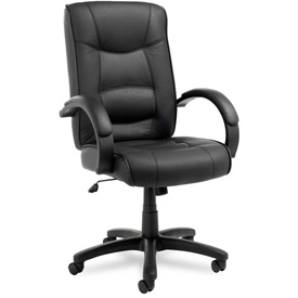 Alera® Executive Office Chair with Swivel/Tilt - Leather - High Back - Black - Strada Series