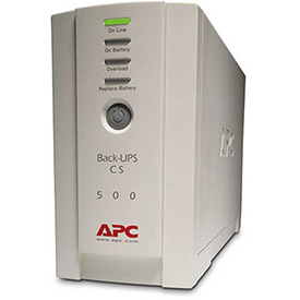 Buy APC BK500 Back-UPS CS 500 Battery Backup System, 6 Outlets, 500VA, 480 Joules