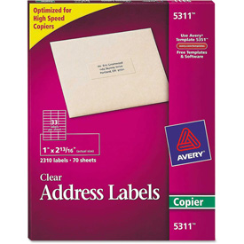 Buy Avery Self-Adhesive Mailing Labels for Copiers, 1 x 2-13/16, Clear, 2310/Pack