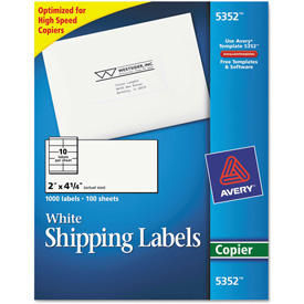 Buy Avery Self-Adhesive Shipping Labels for Copiers, 2 x 4-1/4, White, 1000/Box